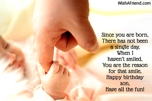 Since you are born, There has, Birthday Wish For Son