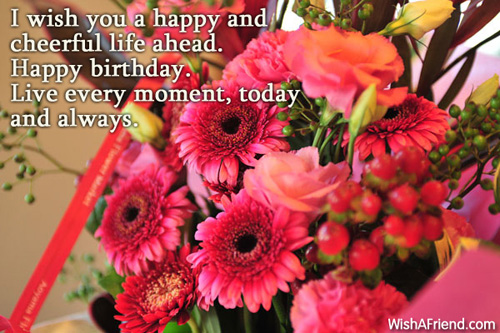 I wish you a happy and Happy Birthday Wish – Live Birthday Greetings