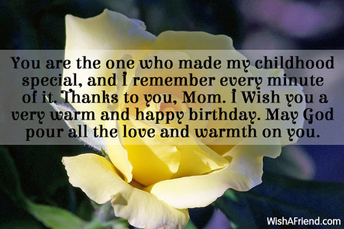Birthday wishes for mom m4hsunfo