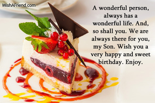 Birthday Wishes For Son – Birthday Greeting for Son