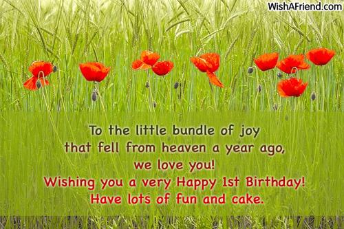 551 1st Birthday Wishes