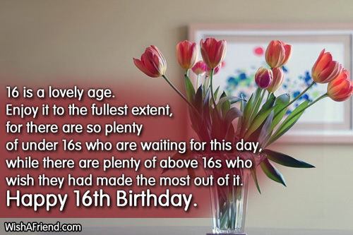 Birthday greetings 16 year old atletischsport birthday greetings 16 year old m4hsunfo
