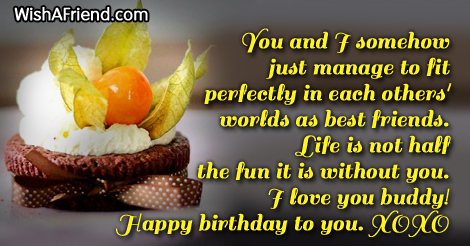 Best Friend Birthday Sayings – Birthday Greetings for Friends Sayings