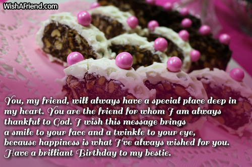 You my friend will always have best friend birthday wish best friend birthday wishes m4hsunfo Gallery