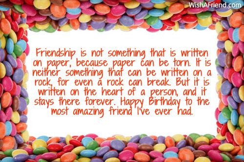 friendship is not something that is best friend birthday wish