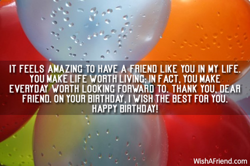 Best Quotes For A Friend On Her Birthday : Best friend birthday wishes