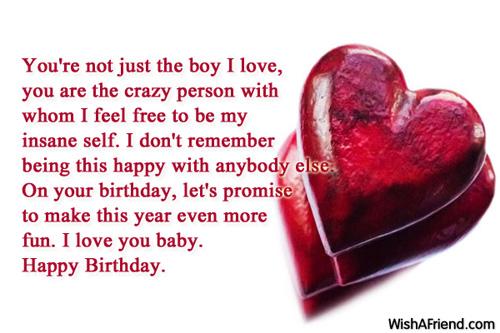 Sweet Birthday Wishes For Boyfriend ~ Birthday wishes for boyfriend
