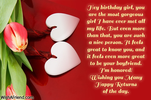 Birthday Wishes For Girlfriend