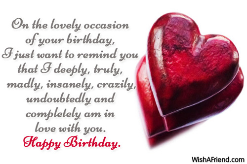 Funny Birthday Quotes For Your Girlfriend : Birthday wishes for girlfriend