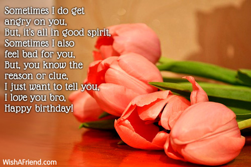Birthday wishes for brother with goodmorning
