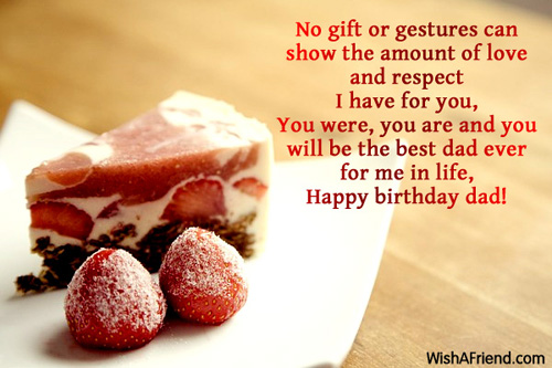 No gift or gestures can show Birthday Wish For Dad – Birthday Greeting Dad