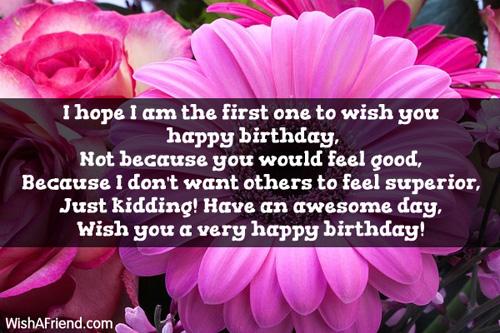 Funny Birthday Wishes I Want To Wish You A Happy Birthday