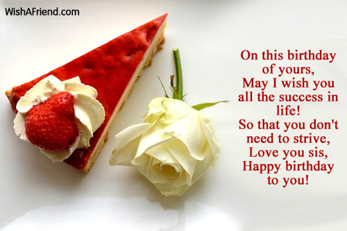 Happy birthday to you  Happy Birthday Quotes For Sister For Facebook