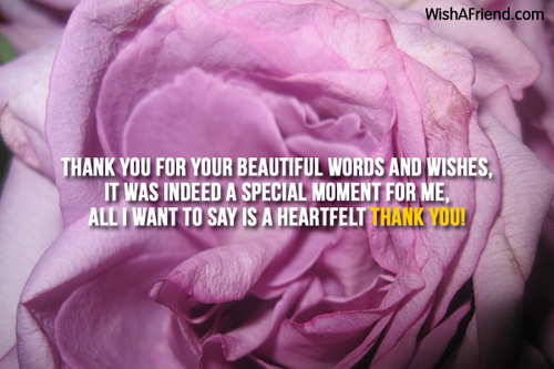Thank you for your beautiful words Thank You For The Birthday Wish – Saying Thank You for Birthday Greetings