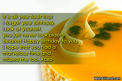 Birthday Wishes Male Cousin ~ Late birthday wishes