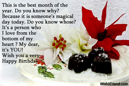 This is the best month of, Happy Birthday Wish