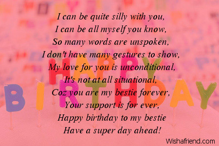 with you i can be friends birthday poem