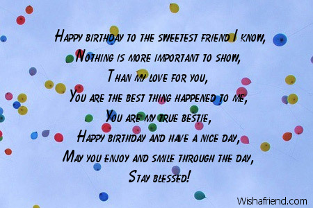 to you my friend friends birthday poem