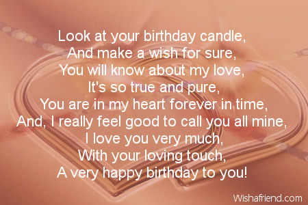 Boyfriend birthday poems