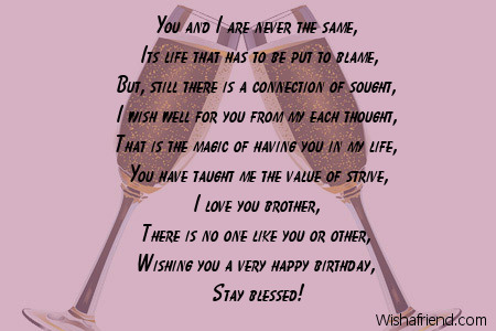 8865 Brother Birthday Poems