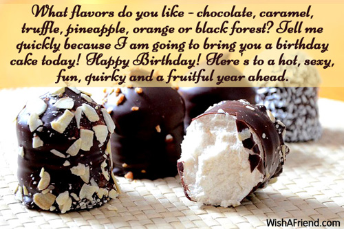 Happy Birthday Wishes Year Ahead ~ What flavors do you like happy birthday wish