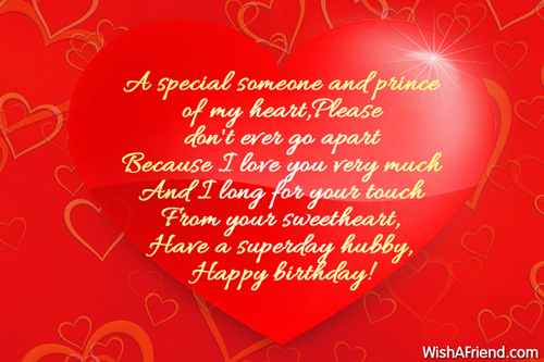 Birthday Wishes For Husband – Special Birthday Greeting