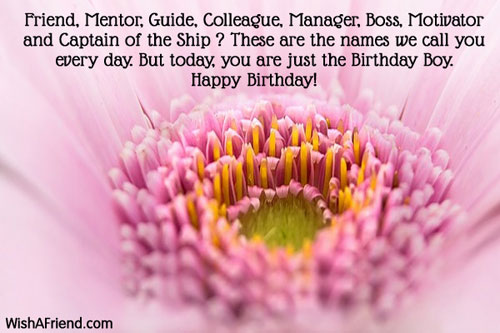 Friend Mentor Guide Colleague Manager Boss Birthday Wish Happy Birthday Wishes To Mentor