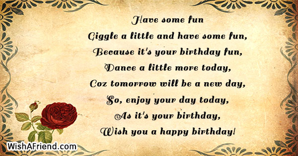 Humorous Birthday Poems