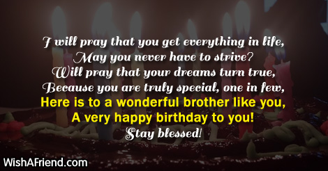 I Pray That You Brother Birthday Poem