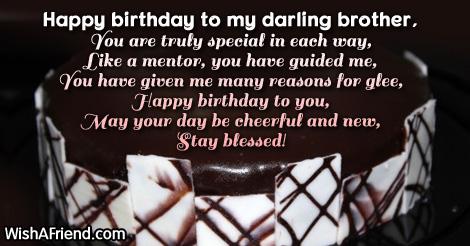 To my bro, Brother Birthday Poem