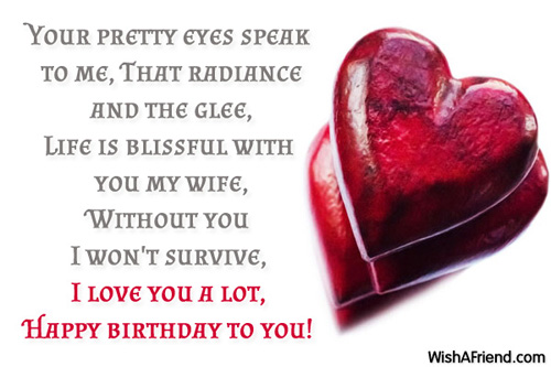 Happy Birthday Wishes For Wife ~ Birthday wishes for wife