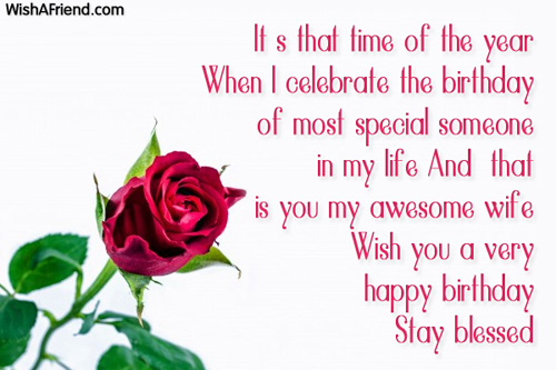 Birthday wishes for wife m4hsunfo