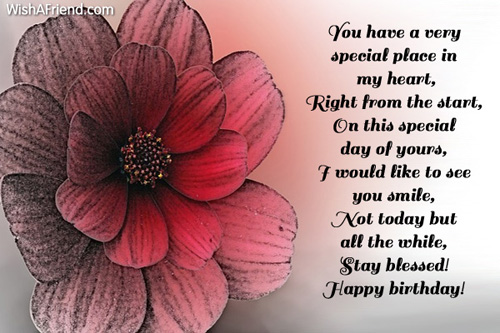 You have a very special place happy birthday greetings you have a very special place m4hsunfo