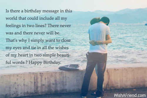 Happy Birthday Message Simple ~ Is there a birthday message in birthday wish for husband