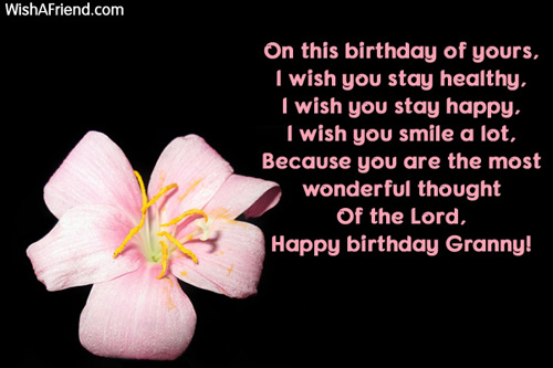 birthday wishes for grandmother