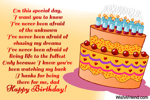On this special day I want Birthday Wish For Dad – Birthday Greeting Dad