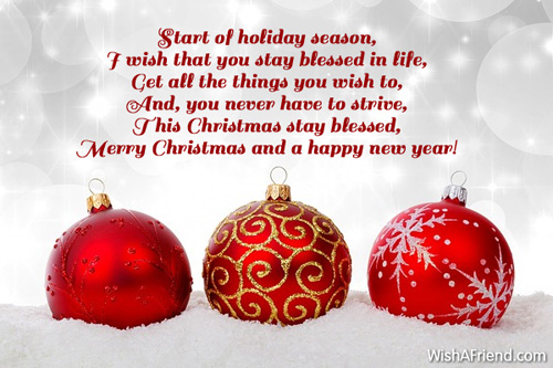 Merry Christmas Message 2016-2017