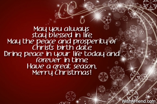 Religious Merry Christmas Images.May You Always Stay Blessed In Religious Christmas Saying