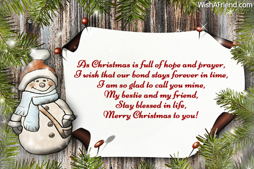 Christmas Messages For Friends.As Christmas Is Full Of Hope Christmas Message For Friends