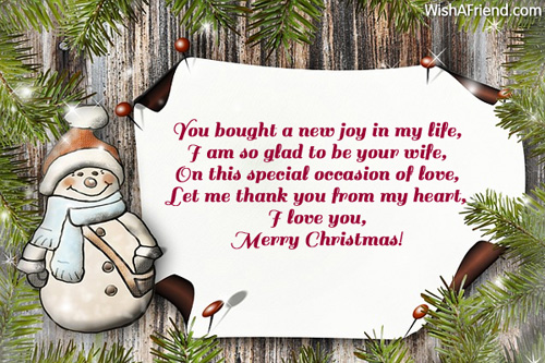 A Husband For Christmas.You Bought A New Joy In Christmas Message For Husband