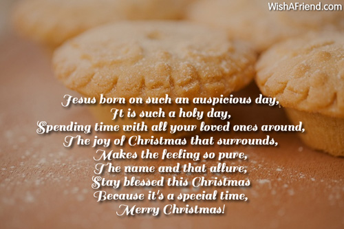 Such a holy day , Christian Christmas Poem