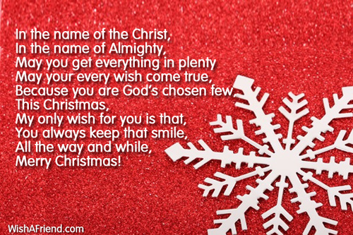 Christmas Poem.In The Name Of The Lord Christian Christmas Poem