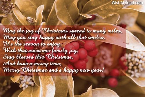 May the joy of Christmas spread, Merry Christmas Wish