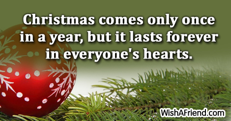 Christmas Thoughts.Christmas Comes Only Once In A Christmas Thoughts