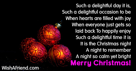 Christmas Eve Poem.Such A Lovely Day Christmas Poem For Children