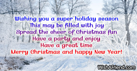 Wishing you a super holiday season, Christmas messages for ...