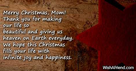 14924 Christmas Messages For Mom