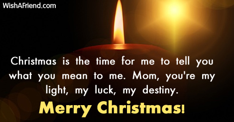 Christmas messages for mom m4hsunfo