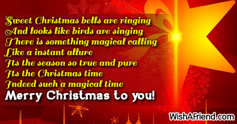 Christmas Sayings For Cards.Sweet Christmas Bells Are Ringing And Christmas Saying For
