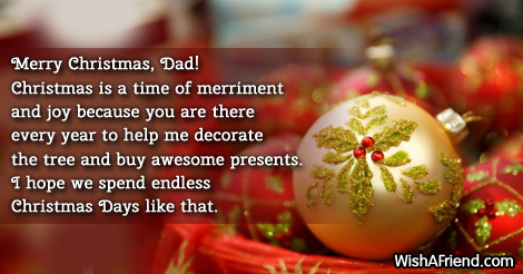 16339 Christmas Messages For Dad